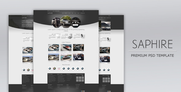 Saphire Psd Template Free Download