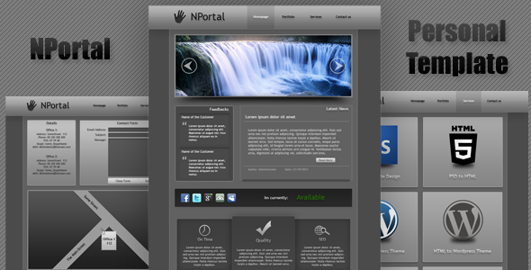 NPortal Personal Web Template Free Download