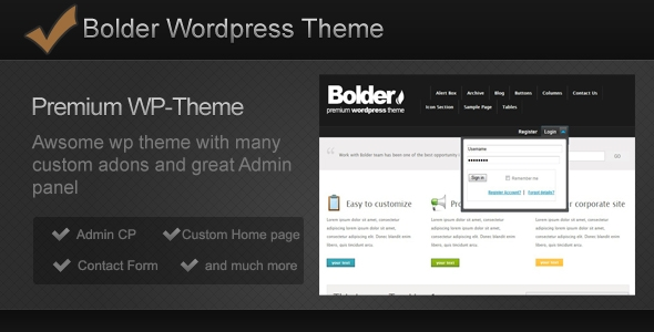 Bolder WP-Theme Free Download