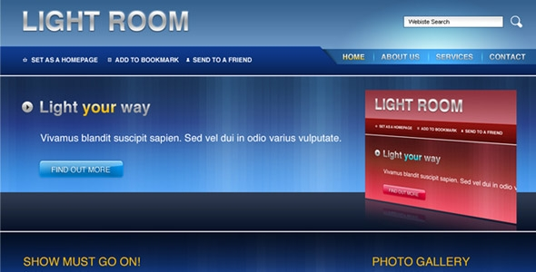 Light Room business template