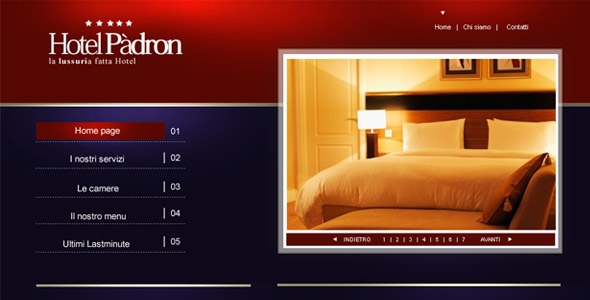 Luxury hotel template PSD
