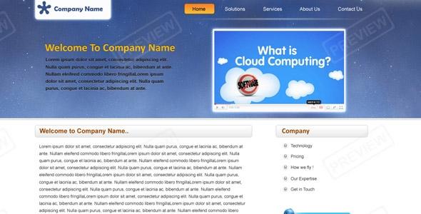 Corporate Sky Cloud Theme: Blue