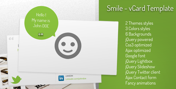 Smile - vCard Template