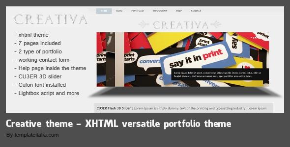 Creativa - XHTML 7 Pages creative theme portfolio