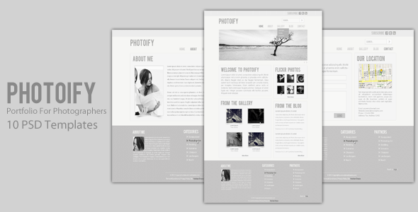 Photoify - PSD Template For Photograpers