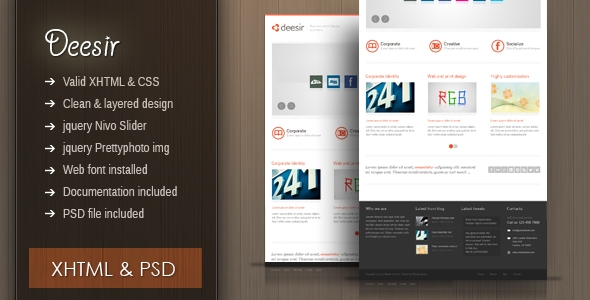 Deesir - XHTML 4 Page theme - clean