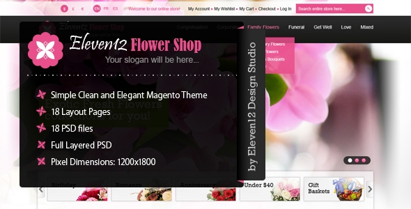 Elegant Flower Shop Magento Theme
