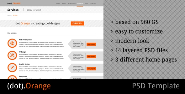 dotOrange - Multipurpose PSD Template