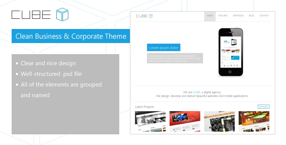 Cube - Clear PSD Template