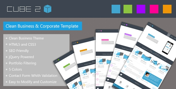 CUBE 2 – Clean Business Corporate Theme