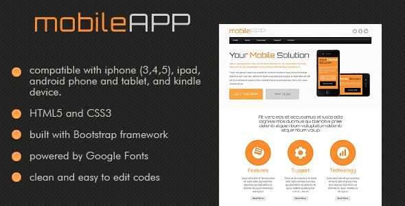 Responsive Mobile Application Website Template
