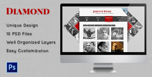 Diamond – Personal PSD Template