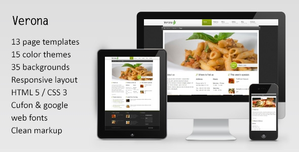 Verona - Responsive Restaurant/Spa Theme