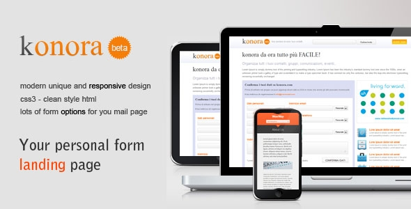 Clean Form mail - Landing Page - Registration form