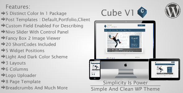 Cube V1 - Simple and Clean WP Theme