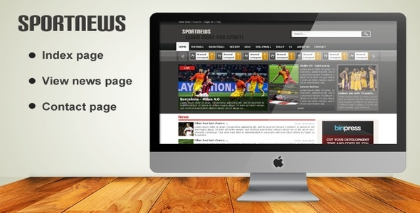 SportNews - PSD Template