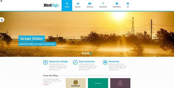 ST BirdSign - Responsive Joomla Template