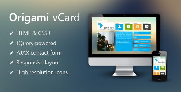Origami - Metro Inspired Vcard
