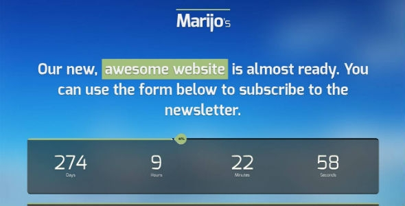 Marijo - Responsive Under Construction Template
