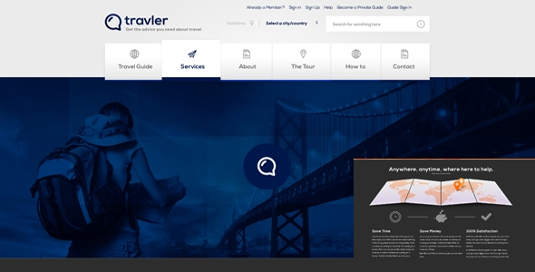 Travler PSD Website