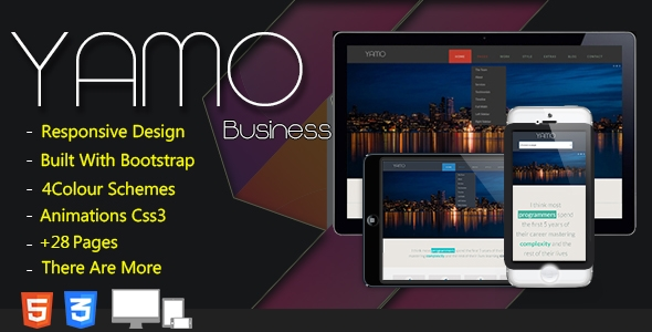 YAMO Business - Responsive Flat Design Bootstrap Template