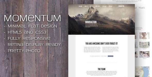 Momentum - Responsive HTML template