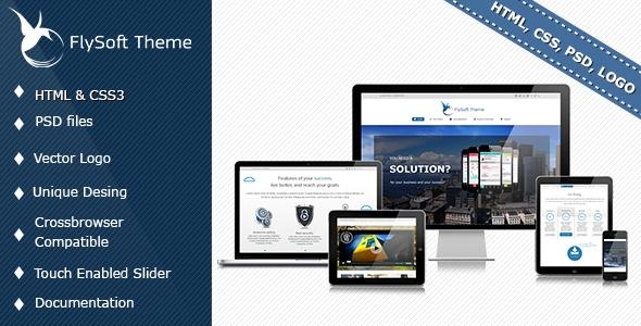 Flysoft Theme HTML, PSD, LOGO vector
