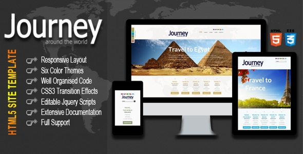 Journey the World - Responsive HTML5 Template