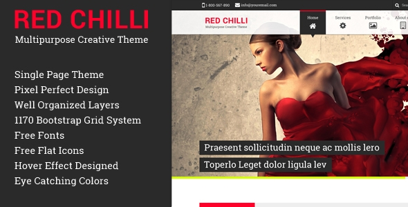 Red Chilli Multipurpose Creative Theme