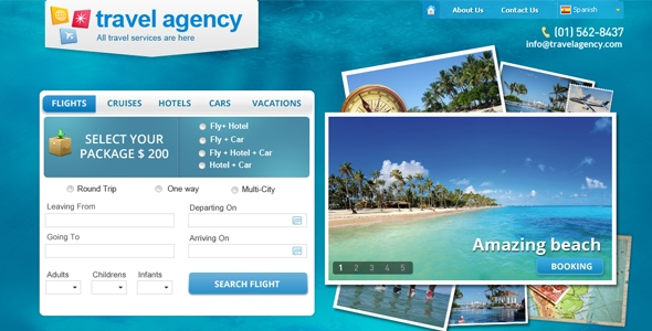 Travel Agency Home PSD Template