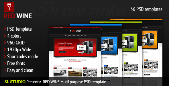 Red Wine - Multi-Purpose PSD Template