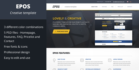 EPOS - PSD Template for your web sites