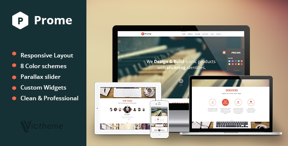 Prome One page Responsive WordPress Theme