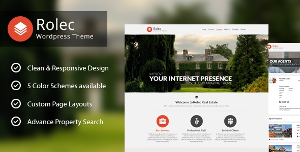 Rolec Real Estate Business WordPress Theme