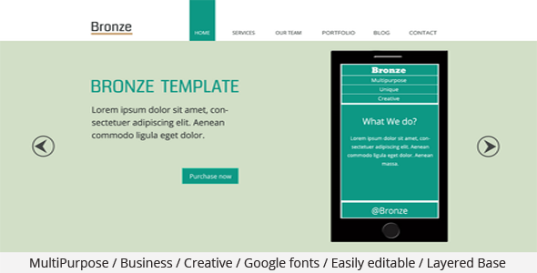 Bronze Multipurpose PSD Template