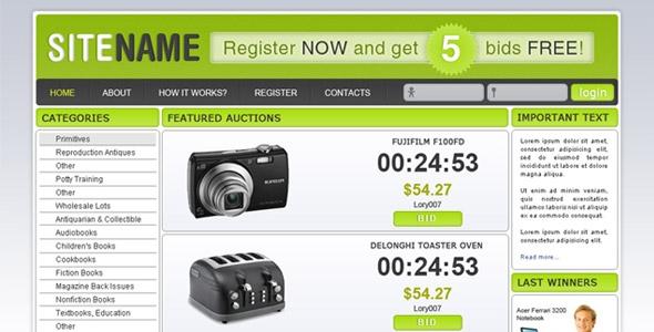 Auction/ecommerce design