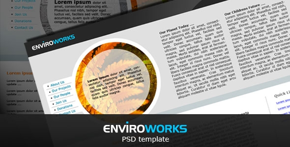 EnviroWorks PSD template