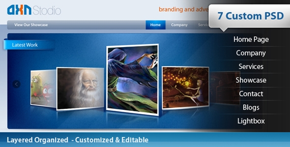 AXN Studio – A Designer Folio Free Download