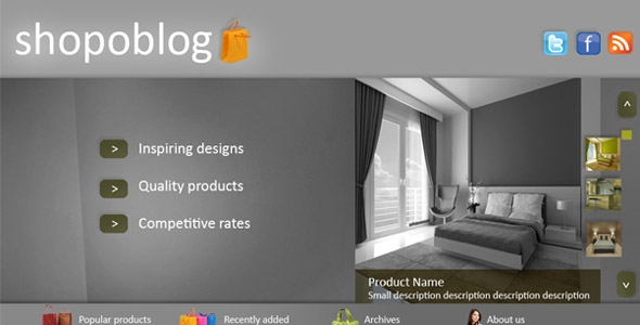 ShopoBlog WordPress Template Free Download