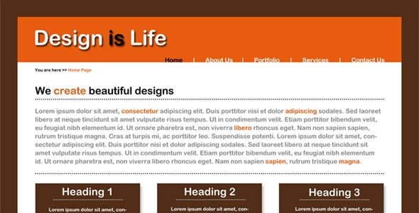 Simple Business Website Layout – Most suitable for small businesses Free Download