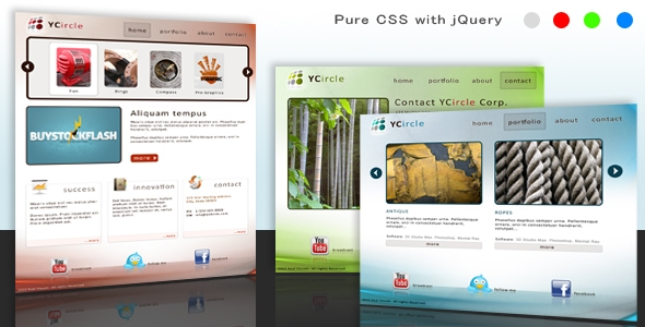 Business & Portfolio – HTML/CSS with jQuery Free Download