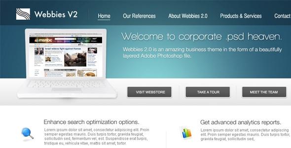 Webbie PSD Template