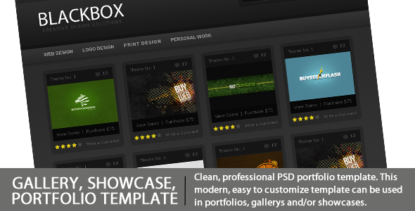 BLACKBOX - Gallery, Showcase, Portfolio Template