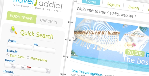 Travel Addict Template Free Download