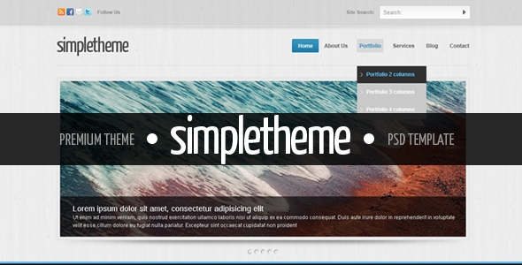 Simpletheme – Premium PSD Template Free Download