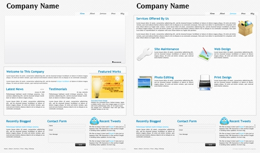 Clean Blue Corporate Design Free Download