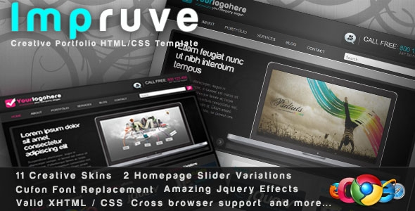 Impruve – Creative Portfolio HTML/CSS Template Free Download