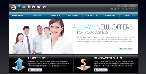 Blue Business Free Download