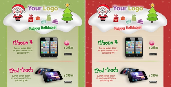 Christmas Sales e-Mail Template Free Download