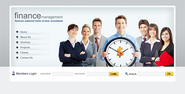 Finace management Template Free Download